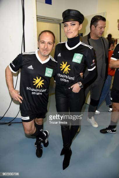 Erdogan Atalay and Sophia Thomalla attend the Schauinsland Reisen Cup 2018 at Schwalbe Arena on January 7 2018 in Gummersbach Germany