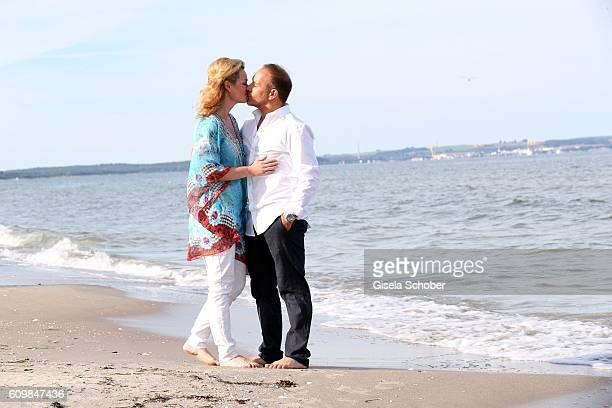 Erdogan Atalay celebrates his 50th birthday with his partner Katja Ohneck on September 22 2016 in Bergen Germany