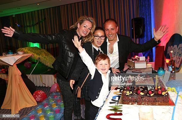Erdogan Atalay with his partner Katja Ohneck and his daughter Pauletta Amira Pollmann and son Maris Atalay during the surprise party for Erdogan...