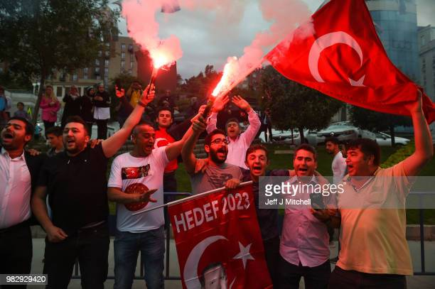 Muharrem Ince presidential candidate of main opposition Republican People's Party holds a news conference evaluating the election results on June 25...