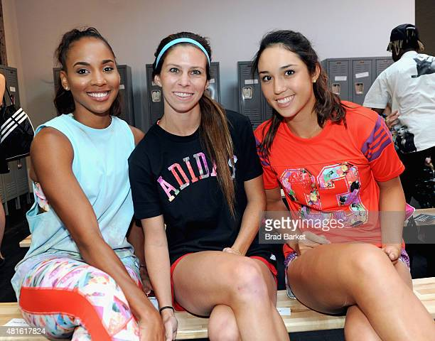 Erea Brown, Erika Tymrak, Louisa Chirico attend the adidas Unveils The adigirl Collection on July 22, 2015 in New York City.