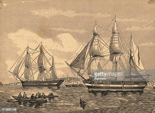 HMS Erebus and HMS Terror the two ships used by Sir John Franklin on his 1845 illfated search for the Northwest Passage The ships became trapped in...