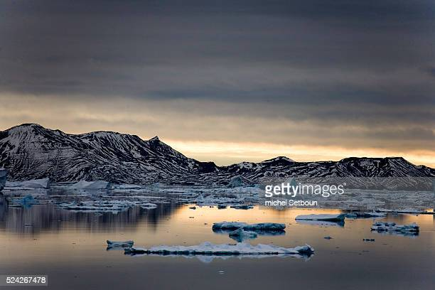 Erebus and Terror Gulf is located on the southeast side of the tip of the Antarctic Peninsula
