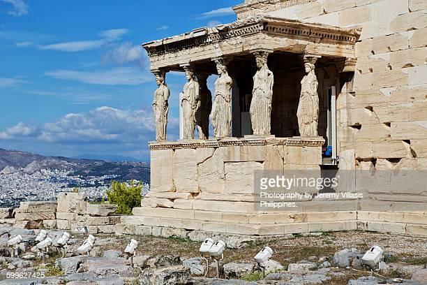 Erechtheion at the Acropolis in Athens, Greece