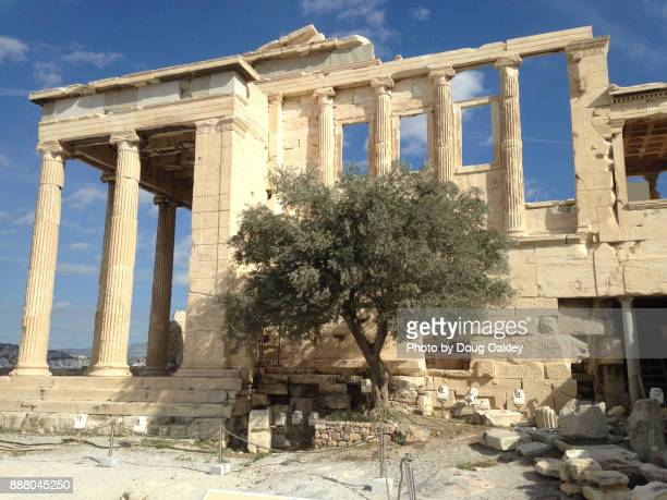 Erechtheion at the Acropolis in Athens Greece Temple to Athena and Poseidon