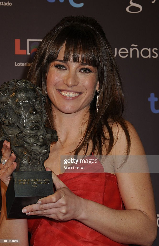 eremony of delivery of the cinematographic prizes 'Goya 2010', Marta Etura with the 'Goya' as the best supporting actress for the movie 'Celda 211', 14th February 2010, 'Palacio Municipal de Congresos', Madrid, Spain.
