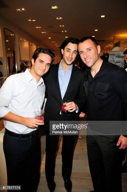 Eren Pamir AJ Strasser and Dirk Armstrong attend Ann Taylor Flatiron Store Opening at Ann Taylor NYC on December 2 2010 in New York City