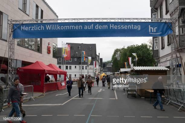 Eröffnung des 56 Hessentages mit dem Hessischen Ministerpräsidenten Volker Bouffier heute gemeinsam mit Bürgermeister Hans Benner Landrat Wolfgang...