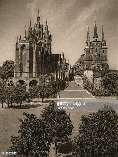 Erfurt Cathedral and Severi Church' 1931 From Deutschland by Kurt Hielscher [F A Brockhaus Leipzig 1931] Artist Kurt Hielscher