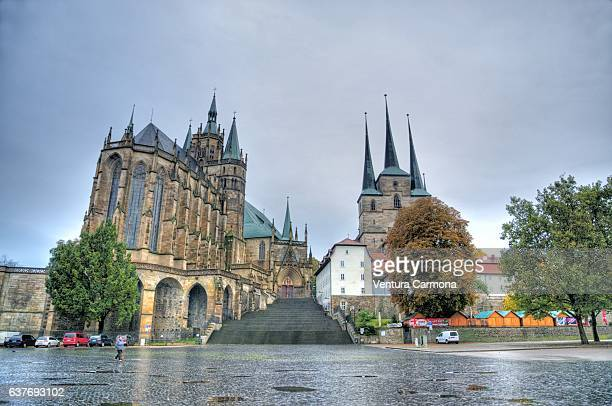erfurt cathedral and st. severus church - germany - erfurt stock pictures, royalty-free photos & images