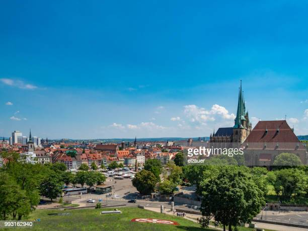 erfurt cathedral - germany - erfurt stock pictures, royalty-free photos & images