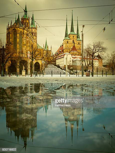 Erfurt Cathedral with Reflection
