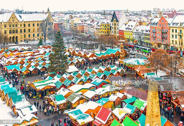 erfurt during christmas - erfurt stock pictures, royalty-free photos & images