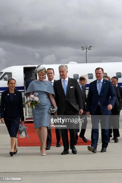 Erfurt, Germany 9.07.19 - Bezoek van Koning Filip & Koning Mathilde aan de Bondsrepubliek Duitsland, deelstaat Thüringen & Sachsen-Anhalt, ontvangst...