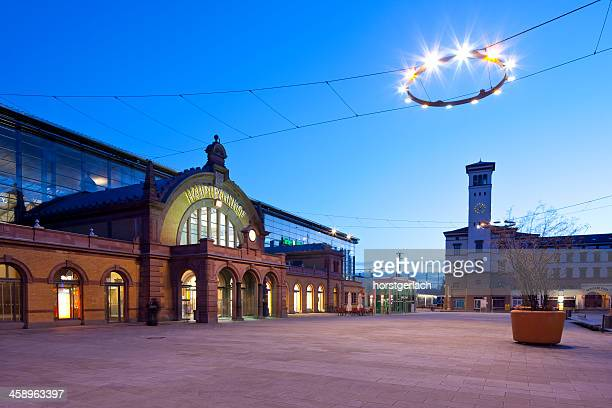 erfurt, germany, willy-brandt-platz and central station - erfurt stock pictures, royalty-free photos & images
