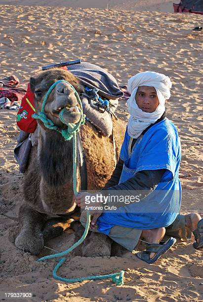 Erg Chebbi, Morocco. The Berbers are the ethnic group indigenous to North Africa west of the Nile Valley. They are distributed from the Atlantic...
