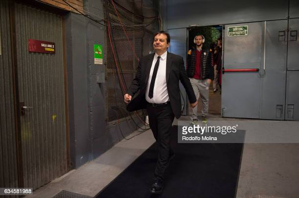 Ergin Ataman Head Coach of Galatasaray Odeabank Istanbul arriving to the arena before the 2016/2017 Turkish Airlines EuroLeague Regular Season Round...