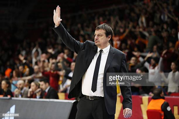 Ergin Ataman Head Coach of Galatasaray Odeabank Istanbul in action during the 2016/2017 Turkish Airlines EuroLeague Regular Season Round 15 game...