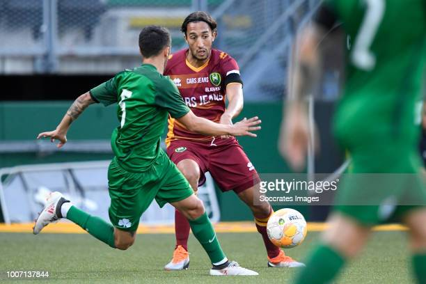 Ergys Kace of Panathinaikos, Abdenasser El Khayati of ADO Den Haag during the Club Friendly match between ADO Den Haag v Panathinaikos at the Cars...