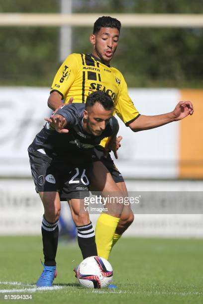 Ergys Kace of PAOK, Tarik Tissoudali of VVV Venlo during the friendly match between VVV-Venlo and PAOK Saloniki at Sportpark de Schuytgraaf on july...
