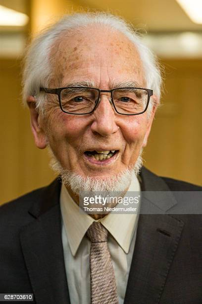 Erhard Eppler looks on during the Social Democrats Party celebration of his 90th Birthday on December 9 2016 in Stuttgart Germany