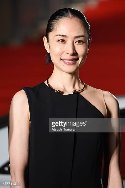 Eri Fukatsu of Japan arrives at the opening ceremony during the 27th Tokyo International Film Festival at Roppongi Hills on October 23 2014 in Tokyo...