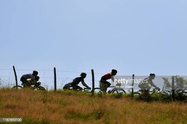 Eri Yonamine of Japan and Team Ale Cipollini / Chloe Hosking of Australia and Team Ale Cipollini / Annelies Dom of Belgium and Team Lotto Soudal...