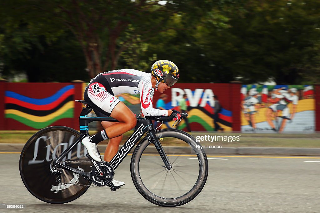 Eri Yonamine of Japan in action during the Women's Elite Individual Time Trial on day three of the UCI Road World Championships on September 22, 2015 in Richmond, Virginia.