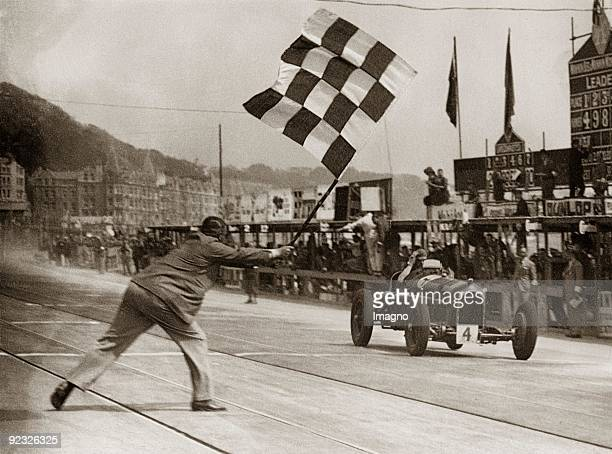 Erian Lewi wins with Alfa Romeo the carrace Douglas Isle of Man Photograph 1934