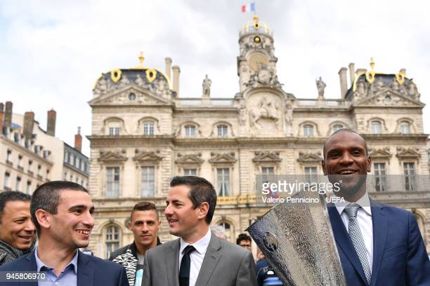 Eric Abidal attends during the UEFA Europa League Trophy Handover on April 13 2018 in Lyon France