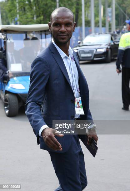 Eric Abidal attends the 2018 FIFA World Cup Russia Final match between France and Croatia at Luzhniki Stadium on July 15 2018 in Moscow Russia