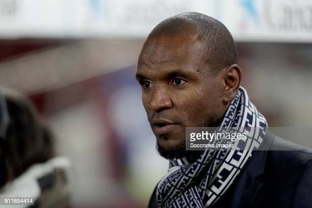 Eric Abidal during the La Liga Santander match between FC Barcelona v Deportivo Alaves at the Camp Nou on January 28 2018 in Barcelona Spain