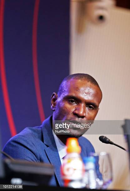 Eric Abidal during the presentation of Arturo Vidal as new player of FC Barcelona on 06th August 2018