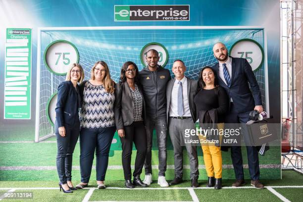 Eric Abidal in the tent of Enterprise at the Fan Zone ahead of the UEFA Europa League Final between Olympique de Marseille and Club Atletico de...
