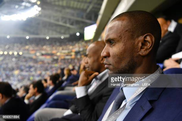 Eric Abidal looks on during the UEFA Europa League Final between Olympique de Marseille and Club Atletico de Madrid at Stade de Lyon on May 16 2018...
