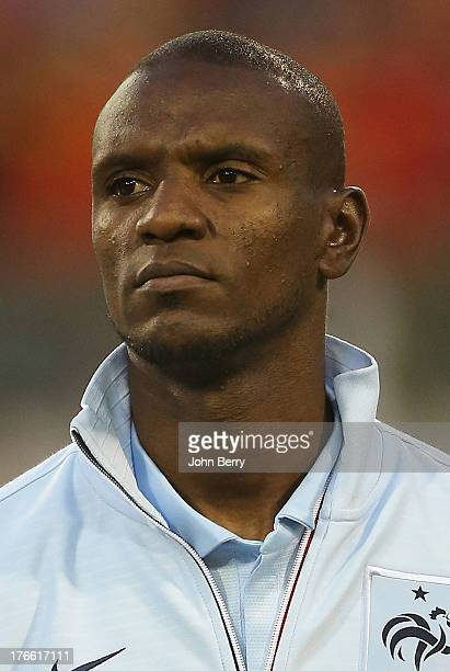 Eric Abidal of France poses before the international friendly match between Belgium and France at the King Baudouin Stadium on August 14 2013 in...