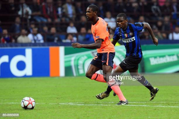 Eric ABIDAL / Samuel ETOO Inter Milan / Barcelone Champions League 2009/2010 Stade Giuseppe Meazza Milan