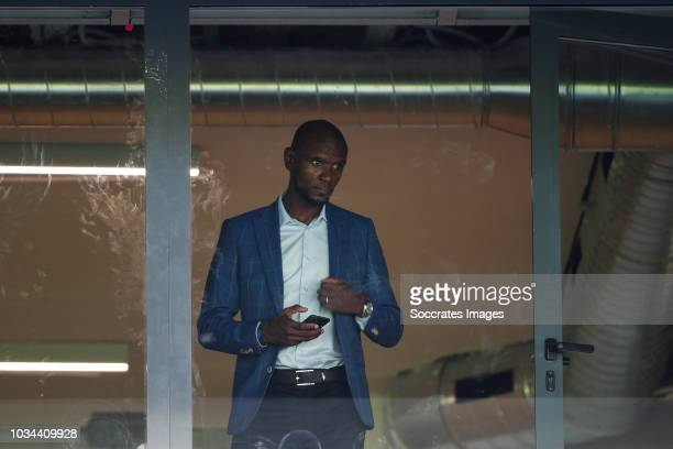 Eric Abidal Sports Director of FC Barcelona during the La Liga Santander match between Real Sociedad v FC Barcelona at the Estadio Anoeta on...