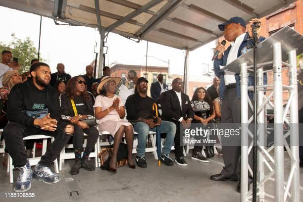 Eric Adams Brooklyn Borough President attends the Notorious B.I.G. Street Naming in Brooklyn New York on June 10, 2019 in Brooklyn, New York. On June...