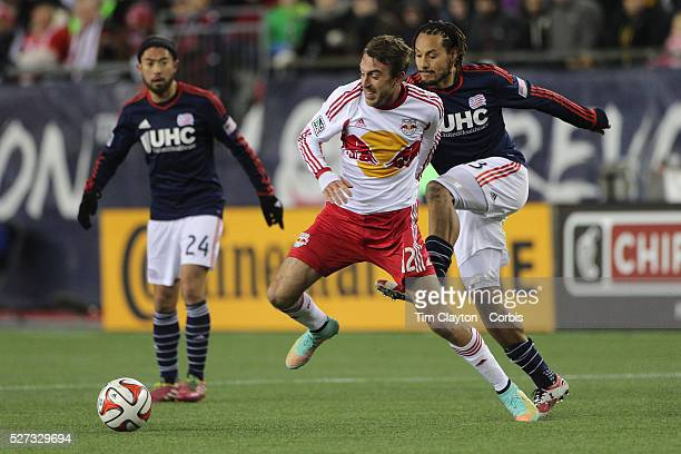 Eric Alexander New York Red Bulls in action during the New England Revolution Vs New York Red Bulls MLS Eastern Conference Final second leg Gillette...