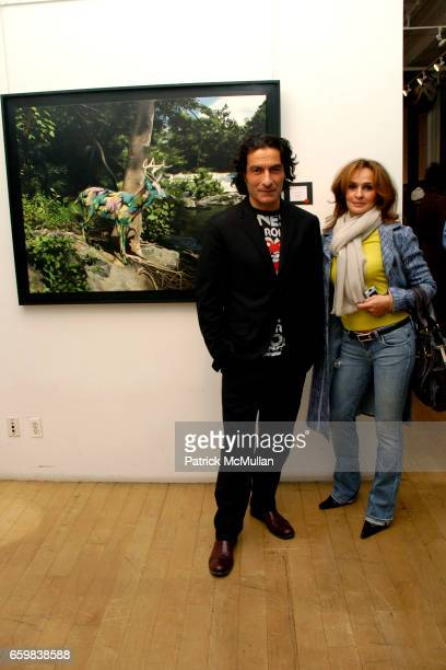 Eric Allouche and guest Kipishonva attend IMMORTAL UNDERGROUND by RON ENGLISH at Opera Gallery on November 12 2009 in New York City