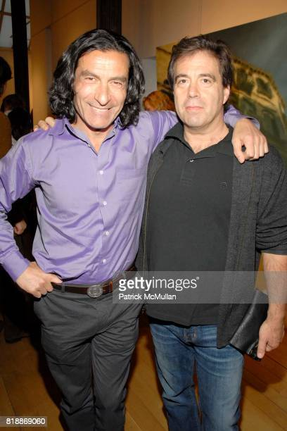Eric Allouche and Mark Montefiore attend Opera Gallery Opening Voigt Monet and Vukelic at Opera Gallery on April 15 2010 in New York City