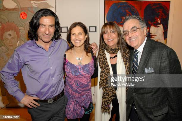 Eric Allouche Kim Allouche Babs Haddad and Cal Haddad attend Opera Gallery Opening Voigt Monet and Vukelic at Opera Gallery on April 15 2010 in New...