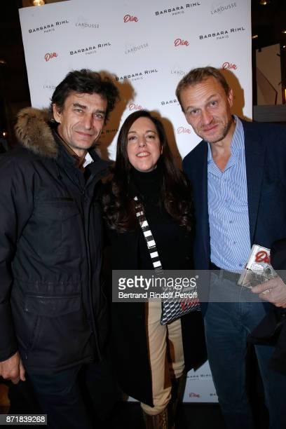 Eric Altmayer Barbara Rihl and Nicolas Altmayer attend Reem Kherici signs her book 'Diva' at the Barbara Rihl Boutique on November 8 2017 in Paris...