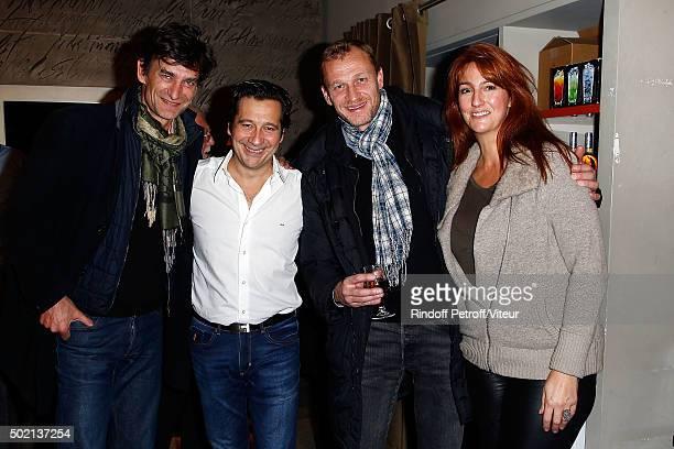Eric Altmayer Laurent Gerra Nicolas Altmayer and his wife attend the Laurent Gerra One Man Show at L'Olympia on December 19 2015 in Paris France