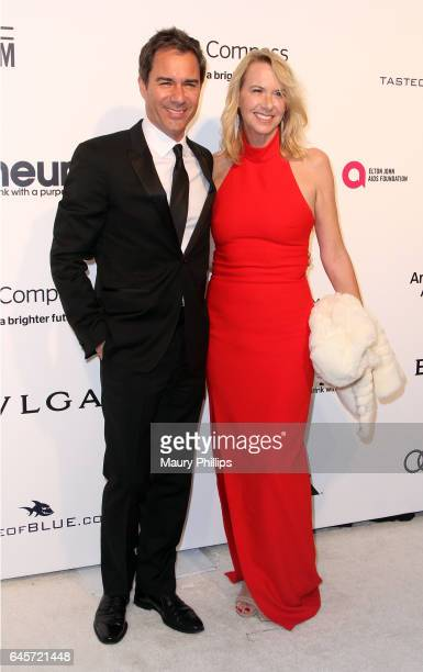 Eric and Janet McCormack attend the 25th annual Elton John AIDS Foundation's Oscar Viewing Party at The City of West Hollywood Park on February 26...