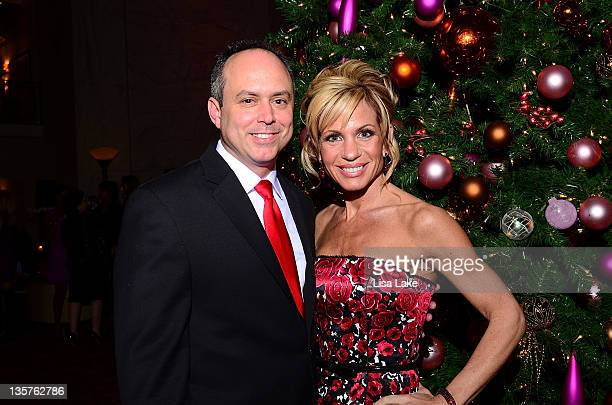Eric and Renee Quinn attend The Philadelphia Style Magazine cover event hosted by Melania Trump at Ritz Carlton Hotel on December 13 2011 in...