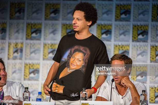 Eric Andre and Nat Faxon attend the Disenchantment panel at ComicCon International on July 21 2018 in San Diego California