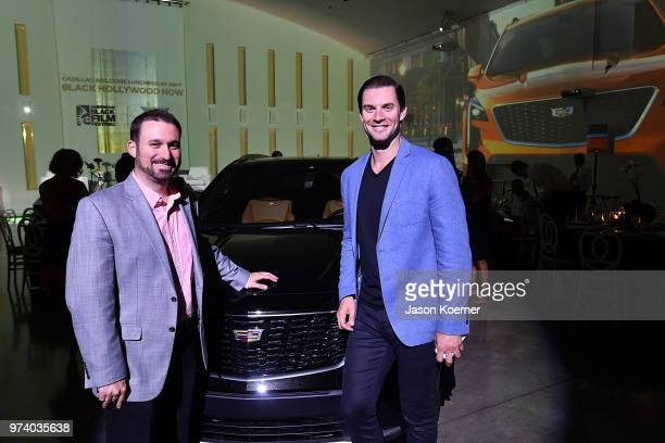 Eric Angeloro and Christopher Smith attend the Cadillac Welcome Luncheon At ABFF Black Hollywood Now The Temple House on June 13 2018 in Miami Beach...