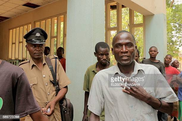 Eric Aniva known as a 'hyena' arrives to the Magistrate Court on August 15 2016 in Nsanje The trial of Eric Aniva known as a 'hyena' resumed on...